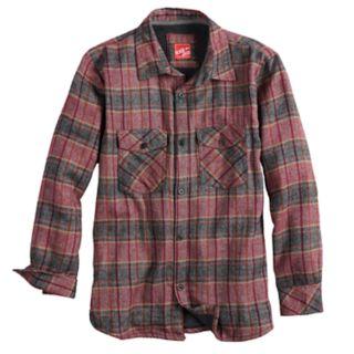 Boys 8-20 Black Jack Flannel Plaid Button-Down Shirt