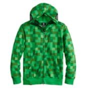 Boys 8-20 Minecraft Creeper Full-Zip Hoodie