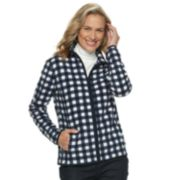 Women's Croft & Barrow® Print Fleece Jacket