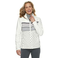 Women's Croft & Barrow® Print Fleece Jacket