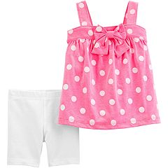0105ca84922d2a Baby Girl Carter's Polka-Dot Tank Top & Bike Shorts Set
