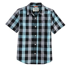 c7bced143 Boys 8-20 Urban Pipeline™ Maxwear Button-Down Shirt. Gray Turquoise  Burgundy Plaid ...