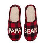 Men's Dearfoams Papa Bear Family Frenzy Slippers