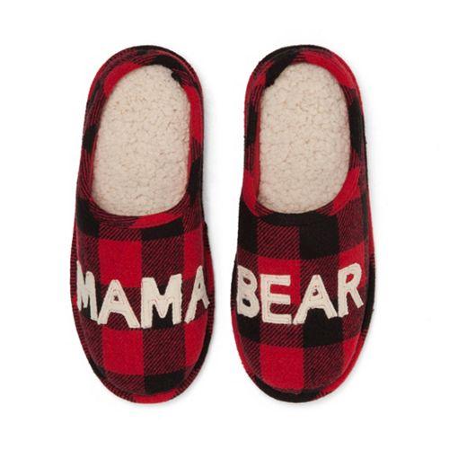 7dcd9b1118b Women s Dearfoams Mama Bear Family Frenzy Slippers
