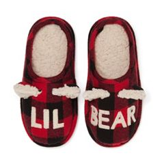 kids dearfoams lil bear family frenzy slippers