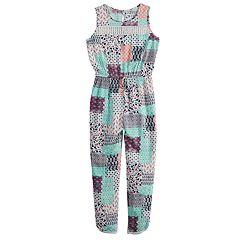 Girls 7-16 Joey B Patchwork Sleeveless Jumpsuit