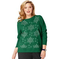Plus Size Just My Size Ugly Christmas Sweatshirt