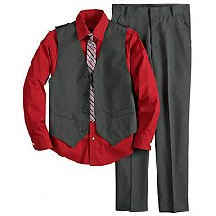 Boys 5-10 Van Heusen Vest 4-Piece Set