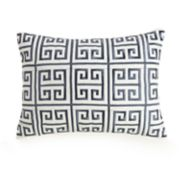 Ayesha Greek Key Embroidered Throw Pillow
