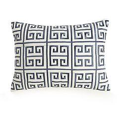 Ayesha Greek Key Embroidered Throw Pillow