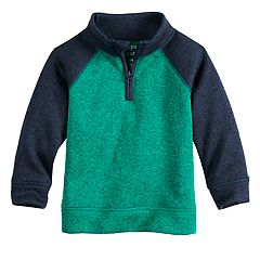 Baby Boy Jumping Beans® Quarter Zip Raglan Sweater Fleece Pullover