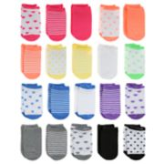 Girls 4-16 Elli by Capelli 20-pack Rainbow No-Show Socks