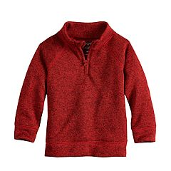 Baby Boy Jumping Beans® Quarter Zip Sweater Fleece Pullover