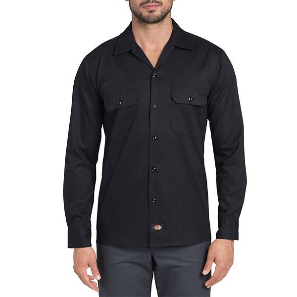 Men S Dickies Flex Slim Fit Twill Work Shirt