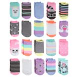 Girls 4-16 Elli by Capelli 20-pack Critter No-Show Socks