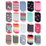 Girls 4-16 Elli by Capelli 20-pack Unicorn No-Show Socks