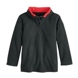 Toddler Boy Jumping Beans® Space Dyed Fleece Quarter Zip Pullover