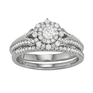 Simply Vera Vera Wang 14k White Gold 5/8 Carat T.W. Diamond Engagement Ring