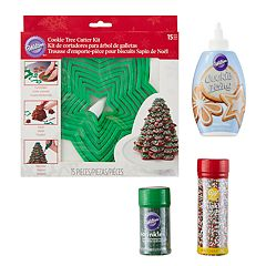 Wilton Holiday Tree Cookie Cutter & Decorations Kit 18-piece Set
