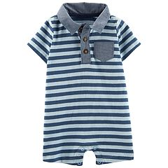 Baby Boy Carter's Striped Pocket Polo Romper