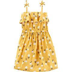 Toddler Girl Carter's Floral Ruffled Dress