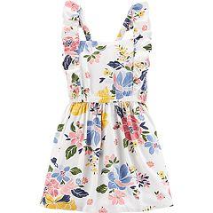 Toddler Girl Carter's Ruffled Floral Dress