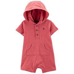 Baby Boy Carter's Henley Hooded Romper