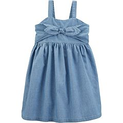Toddler Girl Carter's Bow Chambray Dress
