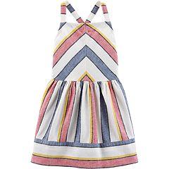 Toddler Girl Carter's Striped Linen-Blend Dress