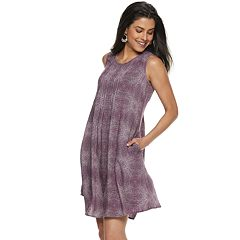 8731cd3d7cd6 Women's SONOMA Goods for Life™ Pintuck Challis Dress
