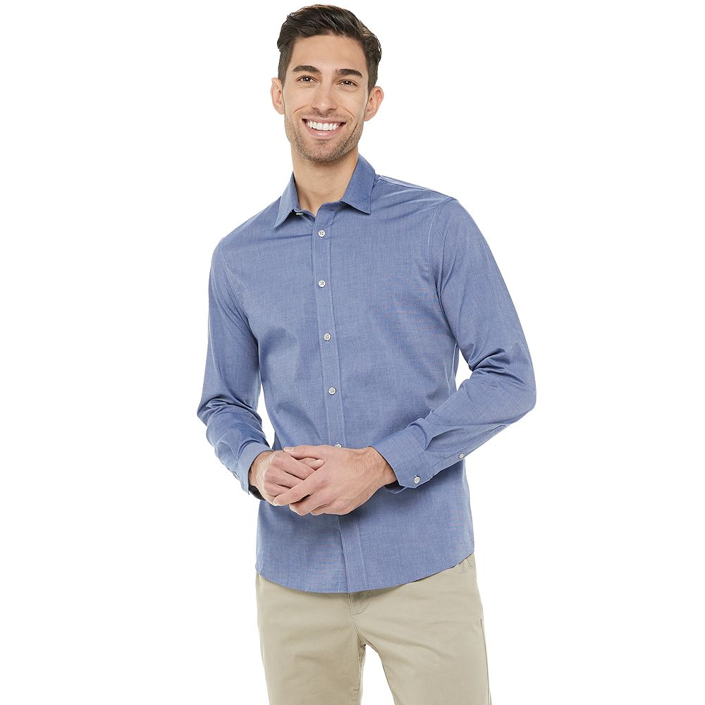 Men's Apt. 9® Slim-Fit No-Iron Stretch Button-Down Shirt