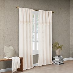 Madison Park Eira Window Curtain with Attached Tassel Trim Valance