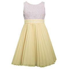 Girls 7-16 Bonnie Jean Embellished Pleated Chiffon Dress