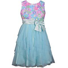 Girls 7-16 Bonnie Jean Floral Bodice Ruffle Dress