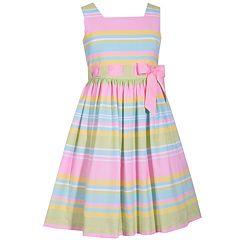 Girls 7-16 Bonnie Jean Multi-Striped Dress