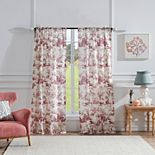 Greenland Home 2-pack Classic Toile Window Curtains