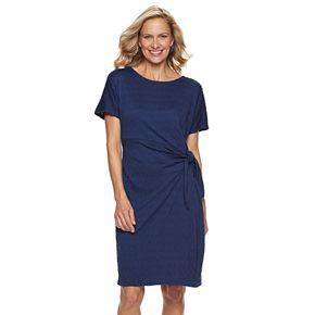 Women's Dana Buchman Gathered Side-Tie Sheath Dress