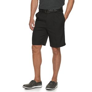 Men's Haggar® Cool 18® PRO Straight-Fit Solid Pleated Shorts