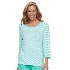 Women's Cathy Daniels Diagonal Stripe Top