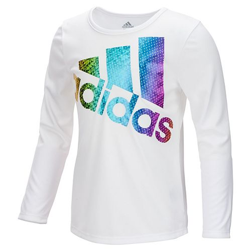 794beb3b7 Girls 7-16 adidas Long Sleeve Colors Ignite Tee