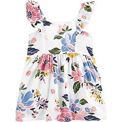 Honey Carters Girls Size 7 Denim Dress With Flowers Clothing, Shoes & Accessories
