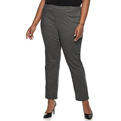 7a5b3b5b3ff Plus Size Napa Valley Slimming Solution Straight-Leg Dress Pants