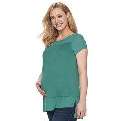 Maternity a:glow Georgette Trim Tee