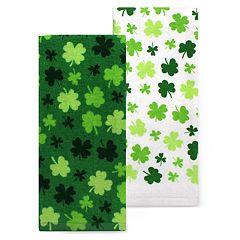 Celebrate St. Patrick's Day Together Shamrock Toss Kitchen Towel 2-Pack