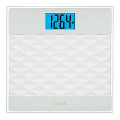 Taylor Glass Digital Scale with 3-Dimensional Platform Design