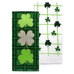 Celebrate St. Patrick's Day Together Three Clovers Kitchen Towel 2-Pack
