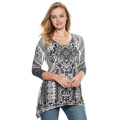 Women's World Unity Shark-Bite Printed Tunic