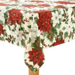 St. Nicholas Square® Poinsettia Print Tablecloth