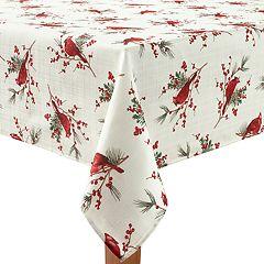 St. Nicholas Square® Cardinal & Sprig Toss Print Tablecloth