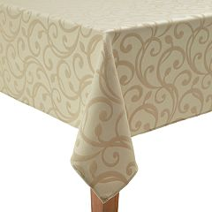 St. Nicholas Square® Gold Swirl Tablecloth